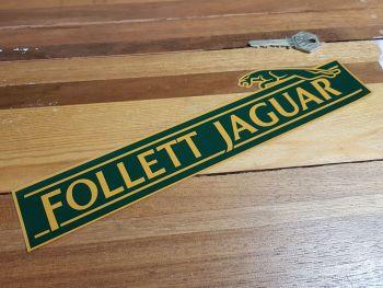 "Jaguar Dealer Window Sticker - Follett - 11"""