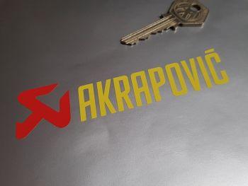 "Akrapovic Exhausts Cut Vinyl Stickers - Set of 3 - 4.5"""