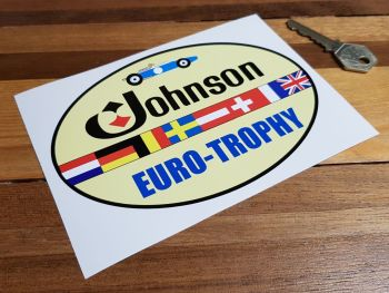 Johnson Euro-Trophy Race Series Sticker 6""