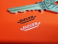 Jaeger Stickers Set of 4 - White or Black on Clear - 22mm