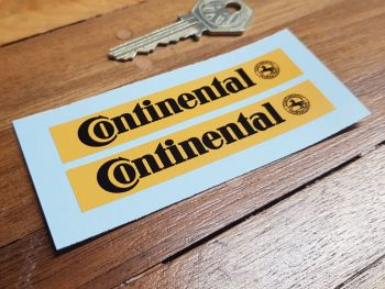"Continental Tyres Oblong Stickers 3.5"" Pair"