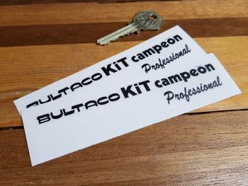 Bultaco KiT Campeon Professional Stickers 130mm Pair