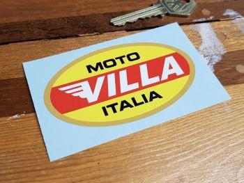 """Moto Villa Italia Oval Sticker 3.5"""""""