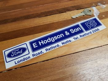 E Hodgson & Son Nottingham Dealer Window Sticker 9.75""