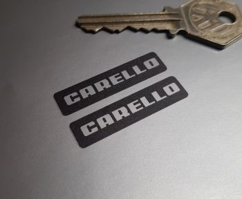 Carello Foglight Stickers - Black & Clear - 39mm Pair