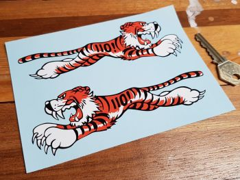 """Leaping Tiger Stickers - Triumph Thunderbird 110 ! Style - 4"""" or 6"""" Pair"""