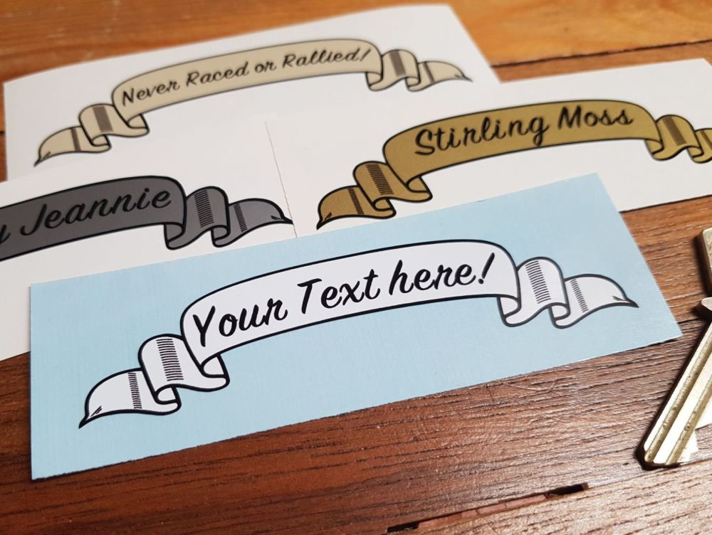 Personalised Scroll Stickers - Various Colours - 4
