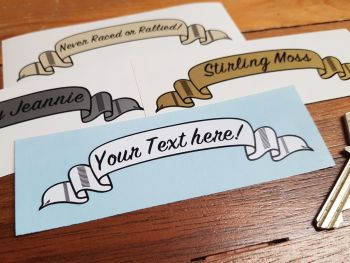 Personalised Scroll Stickers - Various Colours - 4""