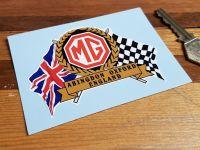 MG Abingdon Flag & Scroll Sticker. 3.75