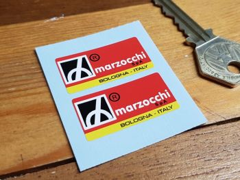 """Marzocchi Suspension Stickers. 1.5"""" Pair."""