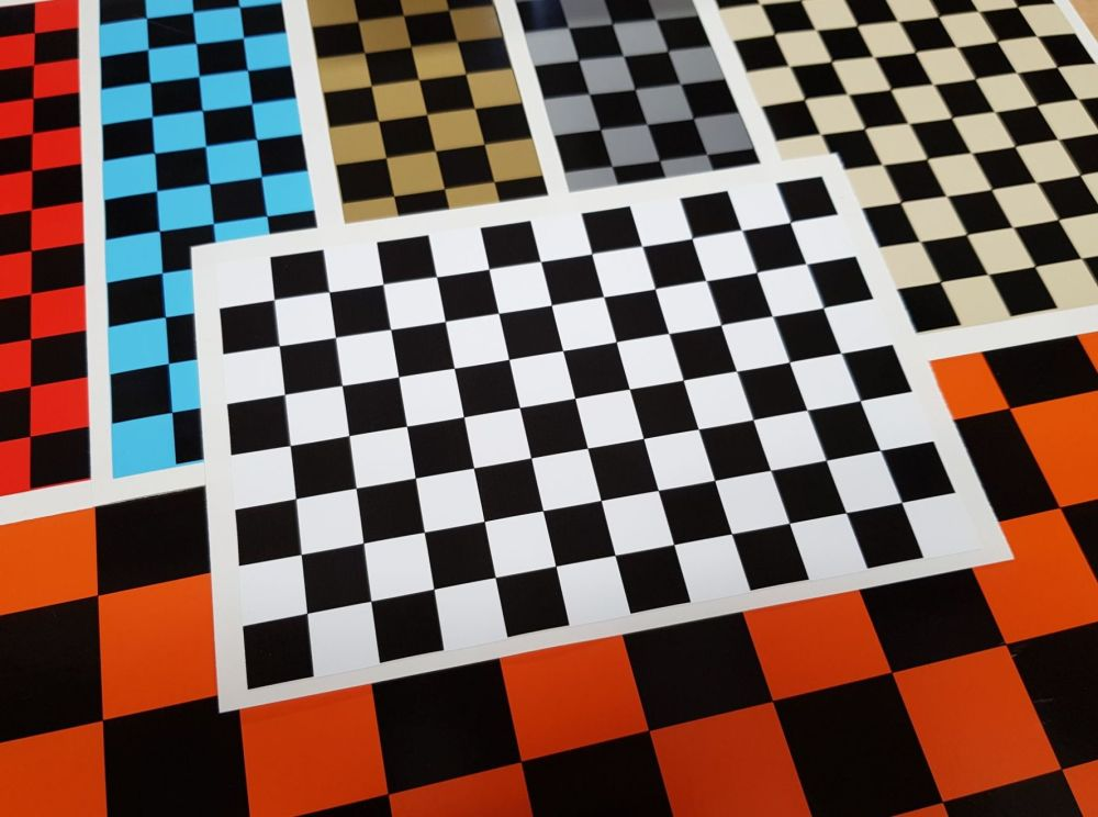 Chequered Sheet Checkered Check Flag Sticker. A4 or A6.