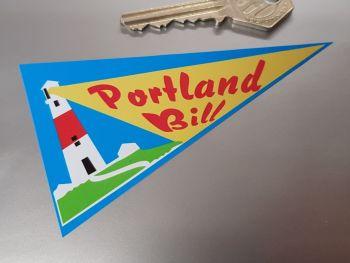 "Portland Bill Travel Pennant Sticker 4"""