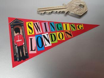 "Swinging London Travel Pannant Sticker. 4""."