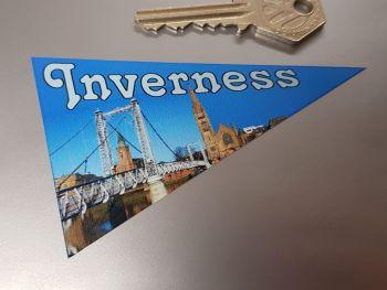 "Inverness Travel Pennant Sticker 4"""