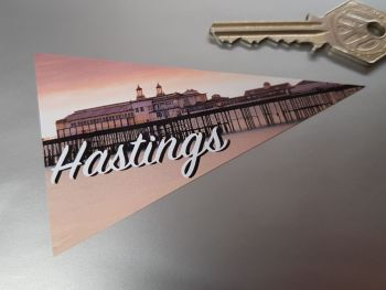 Hastings Sussex Travel Pennant Sticker 4""
