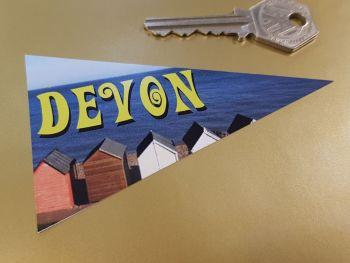 """Devon Travel Pennant Sticker. 4""""."""