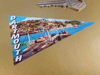 "Dartmouth Travel Pennant Sticker 4"""