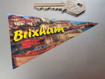 "Brixham Travel Pennant Sticker 4"""