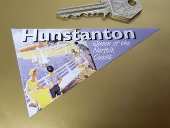 "Hunstanton Travel Pennant Sticker 4"""