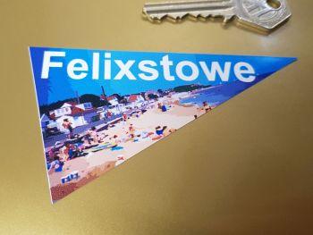 "Felixstowe Travel Pennant Sticker 4"""