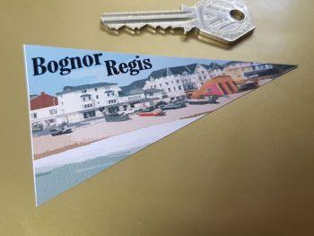 "Bognor Regis Travel Pennant Sticker 4"""