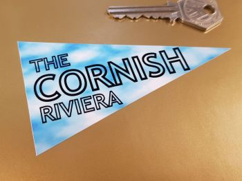 Cornish Riviera Travel Pennant Sticker 4""