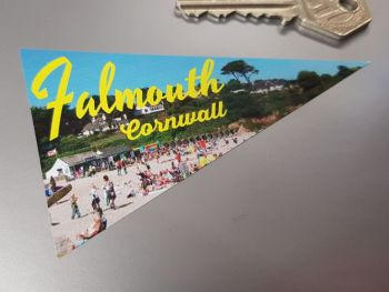 Falmouth Cornwall Travel Pennant Sticker 4""