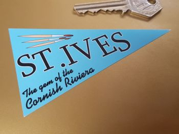 St Ives Travel Pennant Sticker 4""