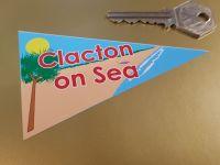 Clacton on Sea Travel Pennant Sticker 4