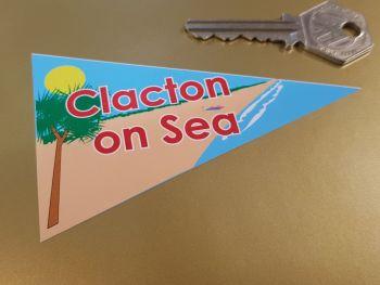 "Clacton on Sea Travel Pennant Sticker 4"""