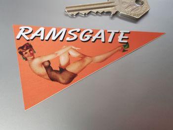 "Ramsgate Travel Pennant Sticker 4"""