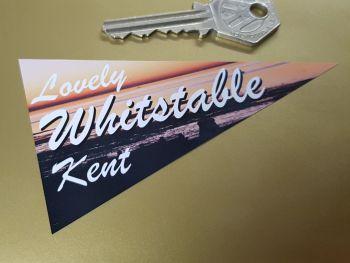 """Whitstable Kent Travel Pennant Sticker 4"""""""