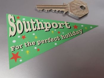Southport Travel Pennant Sticker 4""