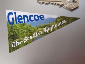 """Glencoe Scottish Highlands Travel Pennant Sticker 4"""""""