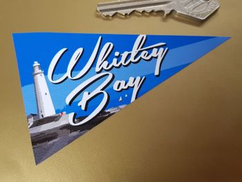 "Whitley Bay Travel Pennant Sticker 4"""