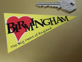 "Birmingham Travel Pennant Sticker 4"""
