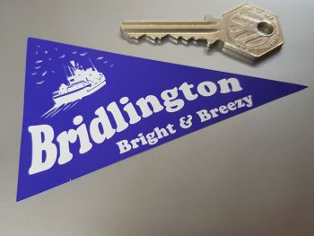 "Bridlington Travel Pennant Sticker 4"""