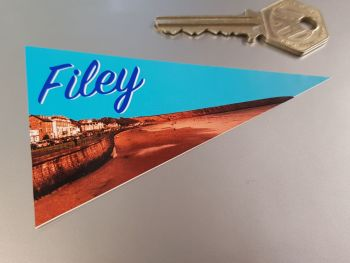 Filey Travel Pennant Sticker 4""