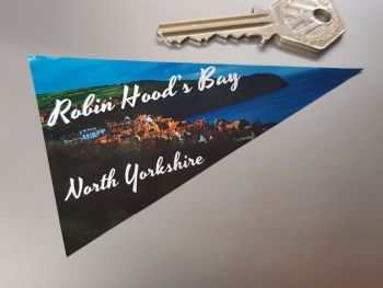 "Robin Hood's Bay Travel Pennant Sticker 4"""