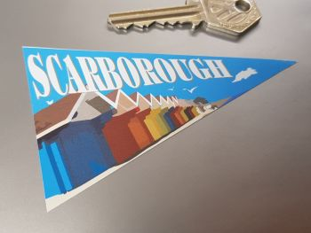 Scarborough Travel Pennant Sticker 4""