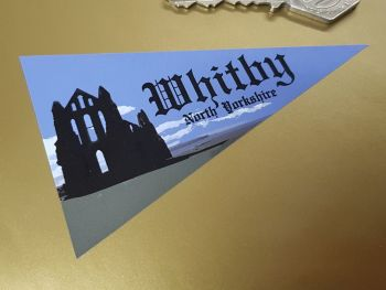 Whitby North Yorkshire Travel Pennant Sticker 4""
