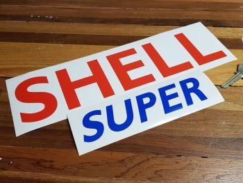"""Shell Super Cut Text Sticker 11.5"""""""
