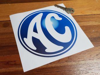 "AC Cars Blue & Clear Circular Sticker 6"""