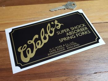 Webbs Super Shock Absorber Spring Forks Sticker 6.25""