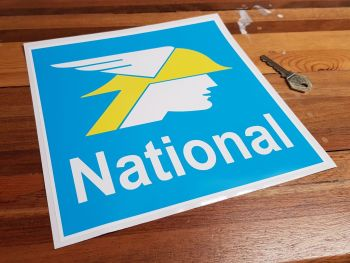 """National Benzole Square Sticker - White Text - 8.5"""" or 12"""""""