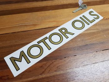 Motor Oils Cut Text with Black Outline Sticker 12""