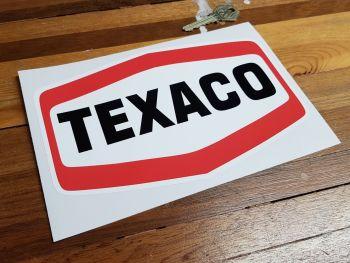 """Texaco Plain Text Logo Sticker - 8"""" or 10"""""""