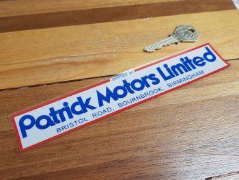 "Patrick Motors Limited Birmingham Dealer Sticker 7.75"""