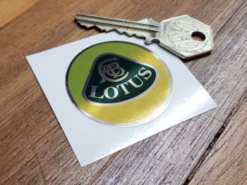 Lotus Circular Logo - Colour on Mirrored Foil - 44mm