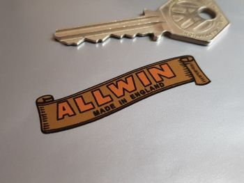 "Allwin Prams Gold Scroll Sticker 2"""